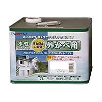 アトムハウスペイント 水性外かべ用塗料 7L 白