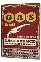カレンダー Perpetual Calendar Garage Gas and service station Tin Metal Magnetic