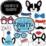 Big Dot of Happiness Pawty Like a Puppy - 犬 ベビーシャワー 誕生日パーティー 写真ブース小道具キット - 20個