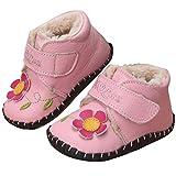 Aubig ベビーファーストシューズ 子供用歩行靴  赤ちゃんシューズ 出産祝いギフト 冬 防寒ファースト靴13.5cm - Pink