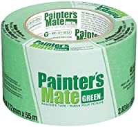Painter's Mate Green Brand CP 150/8-Day Painter's Tape, Multi-Surface, 72mm x 55m, Green, 1 Roll (103364) by TAPE SPECIALTIES