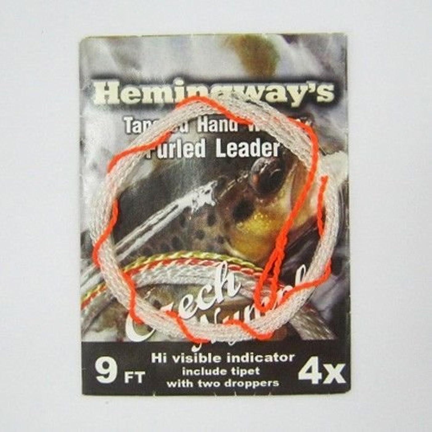 原理勉強する定期的Aventik Hemingway 先細り手織り巻き リーダー チェコニンフ 9FT 4X