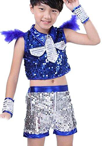 (コ-ランド) Co-land 女の子 男の子 ダンス服 4点セット 演出服 チアガール ジュニア キッズ 応援団 キラキラ スカート パンツ