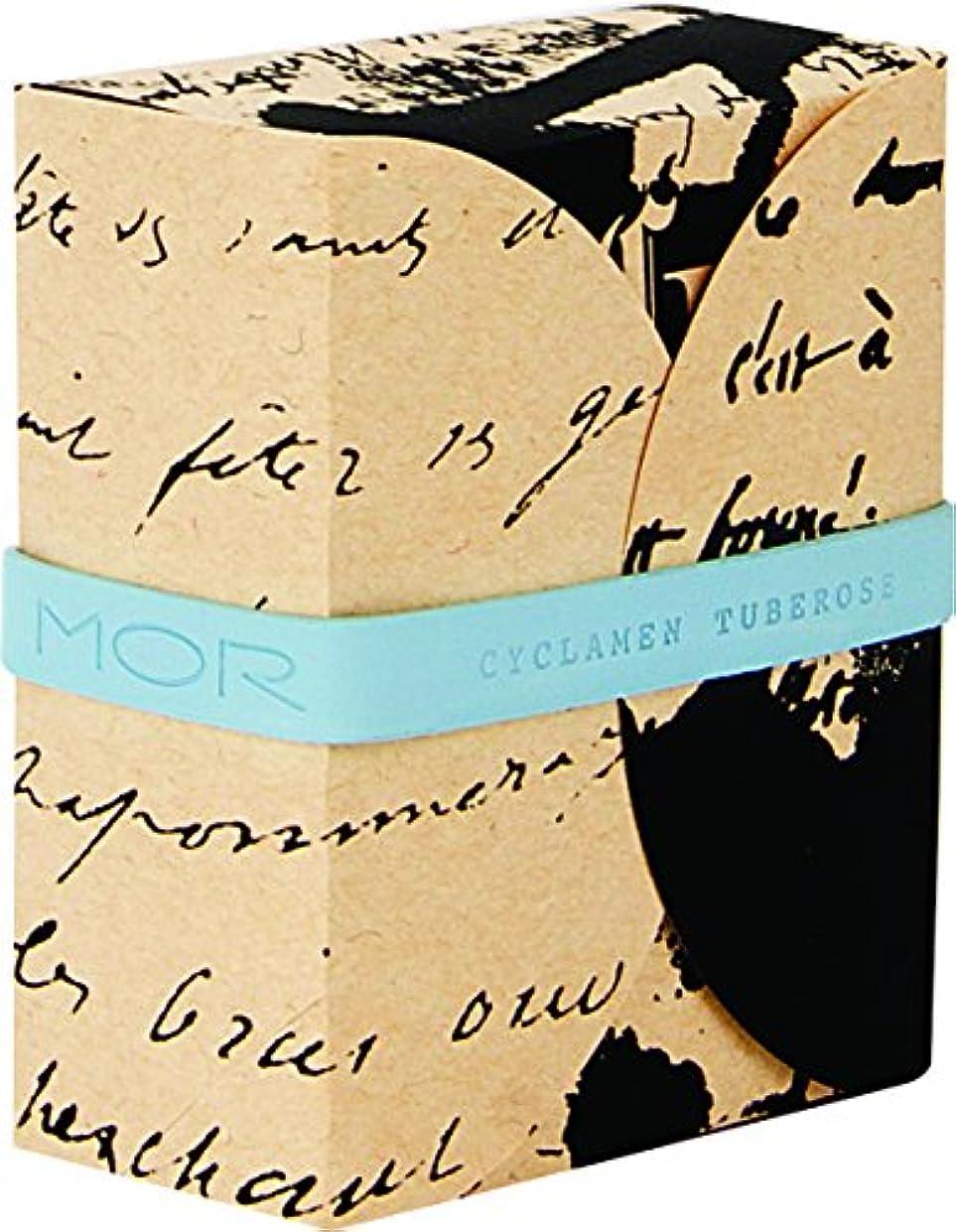 きょうだい安心させる確立MOR(モア) コレスポンデンス トリプルミルドソープバー シクラメンチュベローズ 180g