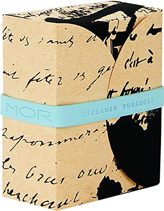 ミシン連鎖作り上げるMOR(モア) コレスポンデンス トリプルミルドソープバー シクラメンチュベローズ 180g