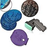 Blue ZOO (ブルーズー) スタンピングネイルアートセット スタンパー+スクレーパ +10枚 ラウンド プレート+カードパック スタンプ ネイルデザイン