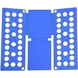 Clothes T Shirt Top Folder Magic Folding Board Flip Fold Laundry Organizer (Adult Size Blue)