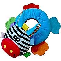 fenteer Newborn Baby Plush Rattle TeetherソフトPlush Animal Teething Plush Handbells Crib開発おもちゃGiraffe