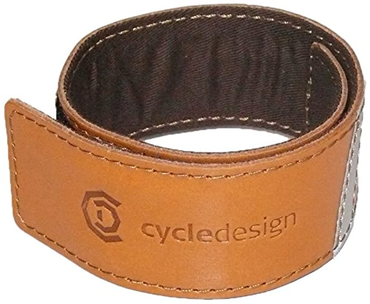 ハーネス酸度考案するcycledesign(サイクルデザイン) スソバンド セーフティレッグレザーバンド 39.5×4CM ベルクロ固定式