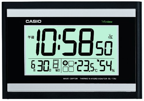 CASIO (カシオ) 電波デジタル掛け時計 温度・湿度表示...