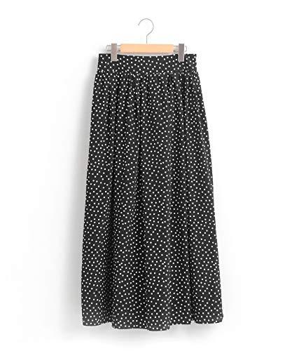(ペルルペッシュ) Perle Peche ドットギャザーロングスカート