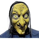 歳の女性魔女マスク - ハロウィーン怖いホラーコスプレ衣装カーニバルに最適カーニバル - アダルトコスチューム - ラテックス、ユニセックス