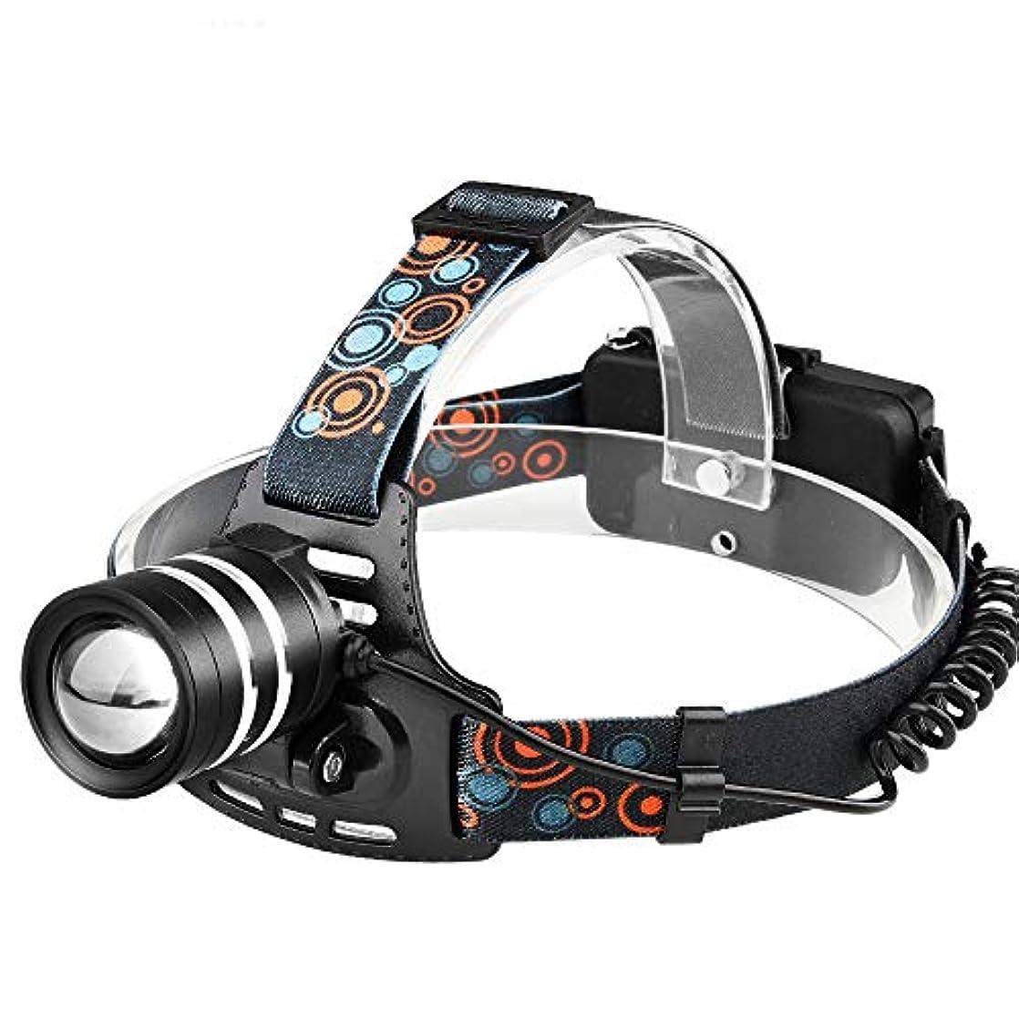 ゴミそよ風定期的1*XM-L T6 LED Headlight ヘッドランプ 赤色安全ライト ズーム模式 可充電式 ヘッドライト TangQI 高輝度 3点灯モード 18650電池 アウトドア キャンプ 防水 停電時用 ハイキング サイクリング 防災 登山 夜釣り 夜間走行 ウォーキング スポーツ 野外活動 自転車 作業に適用
