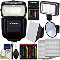 Canonスピードライト430ex iii-rt Flash withソフトボックス+ビデオライト& Diffuser +電池&充電器+キット