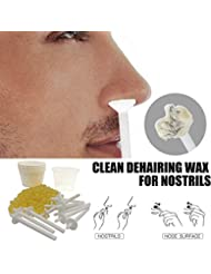 SILUN 鼻毛除去ワックスキット 鼻毛除去化粧道具 ノーズワックスポッド ポータブル道具 迅速かつ無痛 (50グラム/ 10回使用回数)