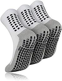MEJORMEN 3足セット スポーツ靴下 男女兼用 滑り止め加工 マラソン サッカーソックス 抗菌防臭 耐久性 多機能アウトドアソックス