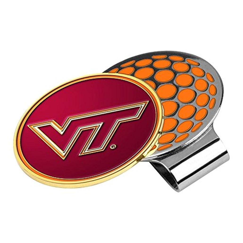 突っ込むゲーム空いているNCAA Virginia Tech Hokiesゴルフ帽子クリップとボールマーカー、1サイズ