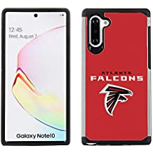 Samsung Galaxy Note 10 - NFL Licensed Atlanta Falcons Case - Red Textured Back Cover on Black TPU Skin