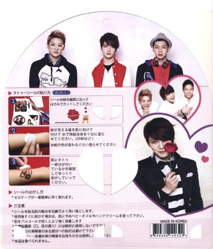 『K-POP タトゥーステッカー シール(TATTOO STICKER SEAL)』2PM/BIGBANG/SHINEE/SUPER JUNIOR/東方神起/少女時代 (JYJ)
