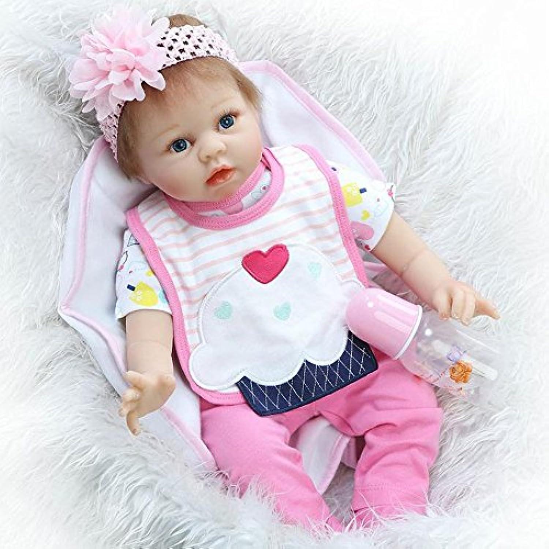 PursueベビーLifelike新生児ベビーガール人形、22インチソフトビニールReal Looking幼児ベビー人形Weighted for Kids