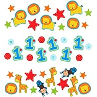 Amscan One Wild Boy 1st Birthday Value Party Confetti Small Blue/Red/Green [並行輸入品]