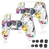 PS5 コントローラー カバー Sony Playstation 5 対応 シリコンケース コントローラー 保護アクセサリーセット コントローラー ケース プレイステーション5 保護カバー 耐衝撃 滑り止め 2個セット [カラー]