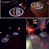 AUDI 高品質 アウディ カーテシ LED レーザーロゴライト / ドアレーザーライト / カーテシライト 配線不要 / 純正交換タイプ (¥ 1,996)