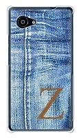 携帯電話taro au AQUOS SERIE mini SHV33ケース (デニム イニシャル 1 ブラウン Z) SHARP SHV33-DNM-BW1Z