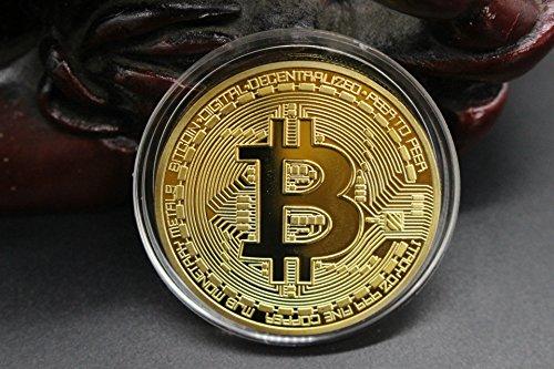 MyMei ビットコイン BitCoin 仮想通貨 ヨッロパ アメリカ コイン 記念硬貨 (ゴルード・ケース付き)