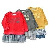 【アウトレット】 Bobson ワンピース(80~130cm) キムラタンの子供服 レッド 110 ( 77419x77919-151a )