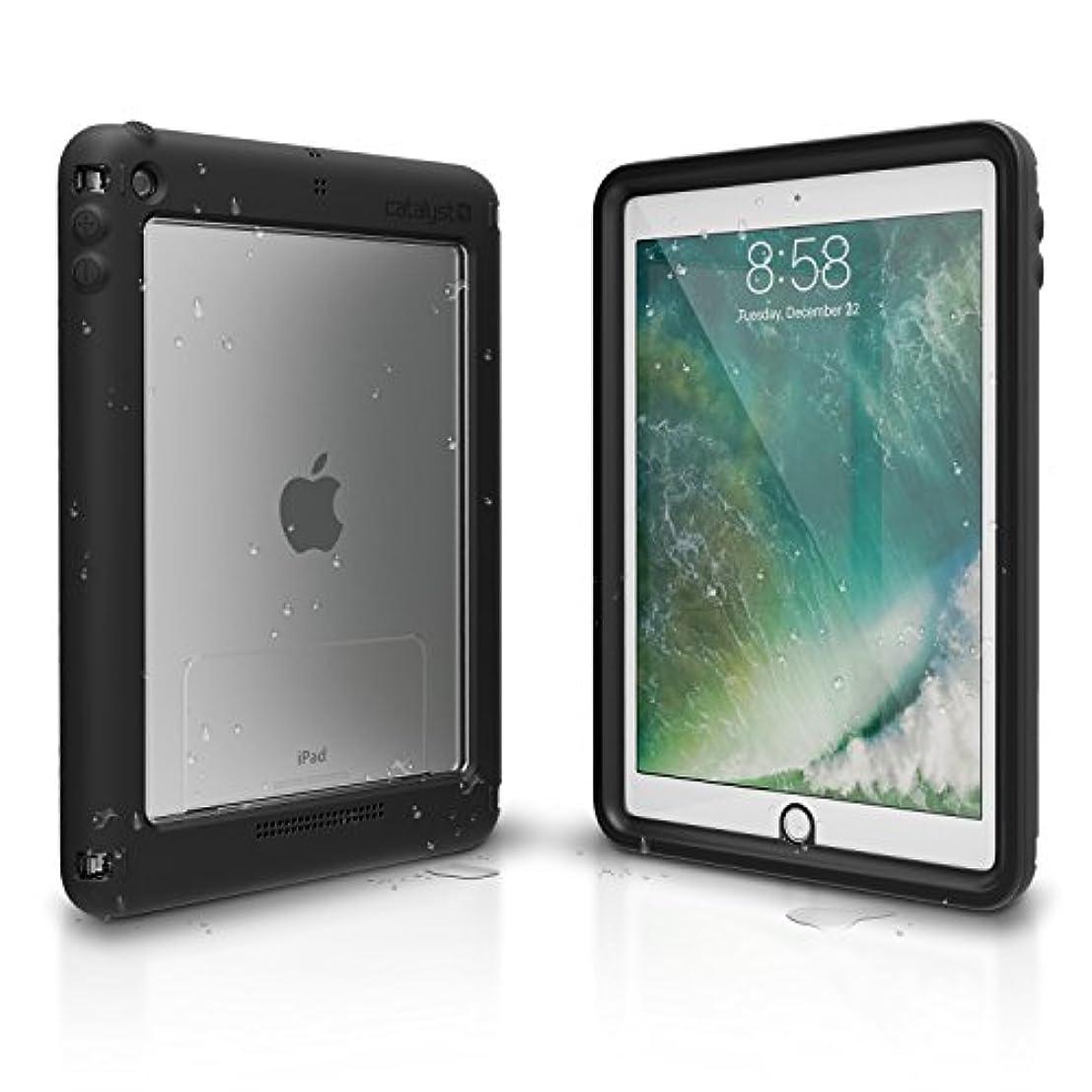 韻アルコーブゆでるCatalyst iPad 9.7インチ 防水ケース 耐衝撃 落下防止 保護ケース [iPad 第6世代対応] プレミアム品質カバー タッチ感度 マルチポジションスタンド ブラック