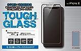 【iPhone Ⅹ 5.8インチ】 ガラスフィルム TOUGH GLASS ブルーライトカット 二次硬化処理 割れにくいガラス フルカバータイプ DG-IP8B2PFBK