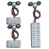 ホンダ インサイト ZE2 FLUX LED ルームランプ セット 3 点 LED 28 連 純正 交換 用