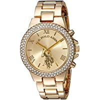 U.S. Polo Assn. Women's Analog-Quartz Watch with Alloy Strap, Gold, 8 (Model: USC40032