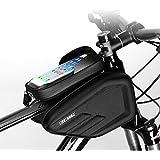 スカイスパー(Skysper)自転車 フレームバッグ Touch ID対応できる フロントバッグ 防水 6.0 インチ タッチスクリーン機能 収納アクセサリー ロードバイク携帯ホルダー