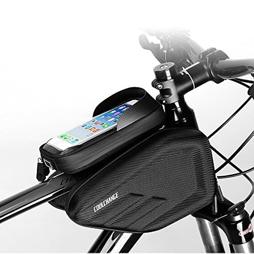 イチゴ入射罰Skysper 自転車 フレームバッグ Touch ID対応できる フロントバッグ 防水 6.0 インチ タッチスクリーン機能 収納アクセサリー ロードバイク携帯ホルダー