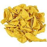 SODIAL(R) 黄色 12インチ ヘリウム品質ラテックスバルーン -パックに50個