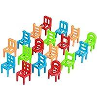 SONONIA 約18個 知育玩具 ミニ プラスチック 椅子 家具 子供 ギフト アクセサリー マルチカラー 5センチメートル