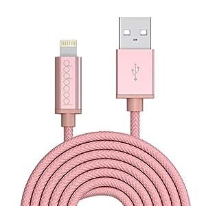 dodocool 【Apple認証】ライトニングUSBケーブル iPhone /iPad / iPod 等のApple製品に対応 3m (ローズゴールド)