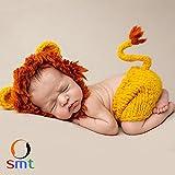 SMT ベビー コスチューム 着ぐるみ 新生児 かわいい コスプレ 寝相アート 記念日 出産祝い (ライオン)