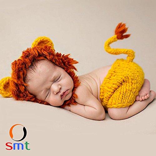 SMT ベビーコスチューム ベビー着ぐるみ ベビー 赤ちゃん 新生児 コスプレ衣装 コスチューム 着ぐるみ 寝相アート (ライオン)
