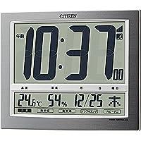 CITIZEN シチズン 置き時計 電波時計 温度?湿度計付き パルデジットワイド140 8RZ140-019