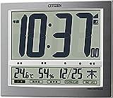 CITIZEN シチズン 置き時計 電波時計 温度・湿度計付き パルデジットワイド140 8RZ140-019