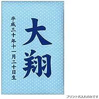 【名前入り立札】【プリント名前?生年月日入り】彩葉(いろは)【パステル水玉】ブルー 高さ12cm 601057 桧製木札