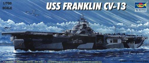 Trumpeter 05730model Kit Aircraft Carrier Uss Franklin Cv 13