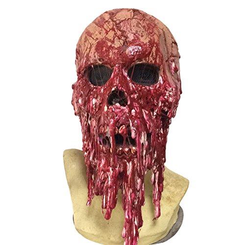 (ビモラ)VIMORA 怖い仮面 ハロウインマスク フルヘッドマスク 恐怖マスク 血落ちゾンビ 大人用 かぶりもの テーマパーテイー 変装パーテイーにも