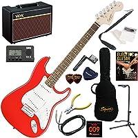 Squier エレキギター 初心者 入門 ジャンルを選ばないクラシカルなストラトスペックを継承。 人気のVOX Pathfinder10が入った本格14点セット Affinity Stratocaster/RCR(レースレッド)