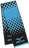 (ミズノ)MIZUNO トレーニングウェア 今治タオル・ストレッチジャガード マフラータオル [ユニセックス] 32JY7108 97 ブラック×ブルー F