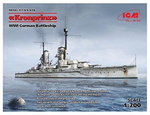 ICM 1/700 ドイツ軍 ドイツ弩級戦艦 クローン・プリンツ プラモデル S016