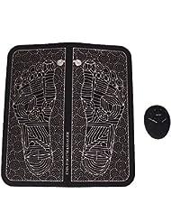 ミニポータブルインテリジェントフットマッサージパッド、多機能フットマッサージプレートは血液循環指圧をし、充電式振動マッサージ機は痛みと疲労を軽減します(電池)